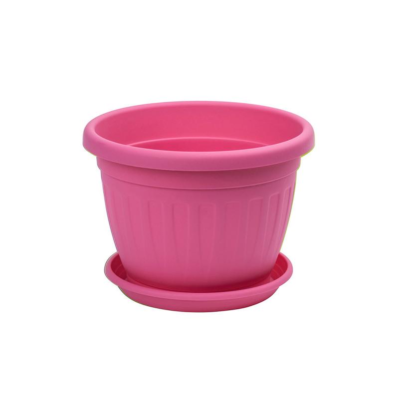 Saksija Venecija sa podmetačem kolor Ø14-pink