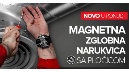 Magnetna zglobna rukavica sa pločicom