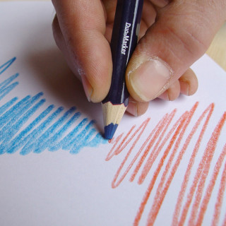 Dvobojna olovka 175mm, plavo-crvena