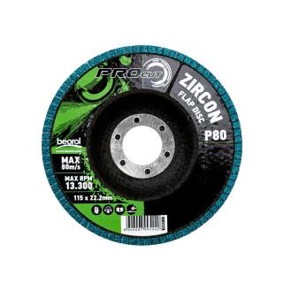 Brusni disk zirkon, ø115mm, granulacija 80