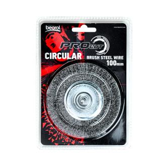 Mašinska čelična četka, kružna ø100mm za bušilicu