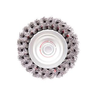 Mašinska čelična četka, upletena lončasta ø100mm za brusilicu