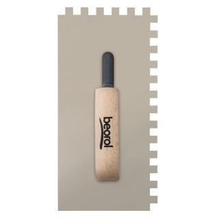 Gleterica Inox, nazubljena 10x10mm, kratka osnova drvena drška