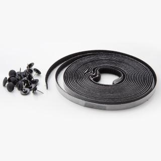 Samoljepljiva mreža protiv insekata 130x150mm, crna