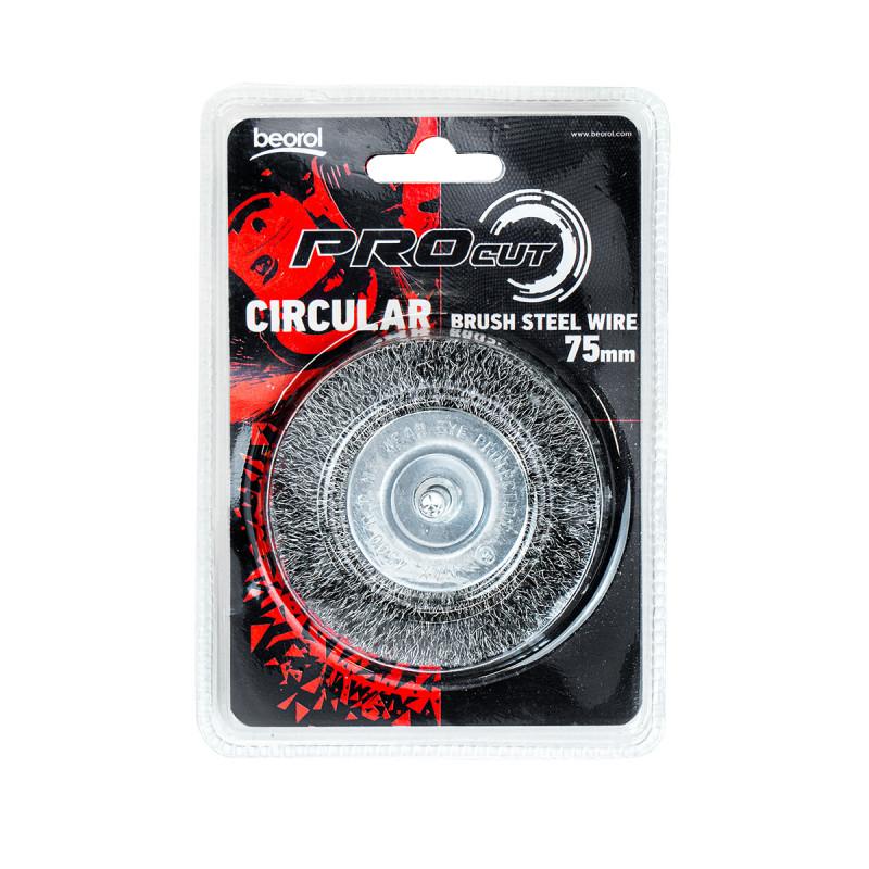 Mašinska čelična četka, kružna ø75mm za bušilicu