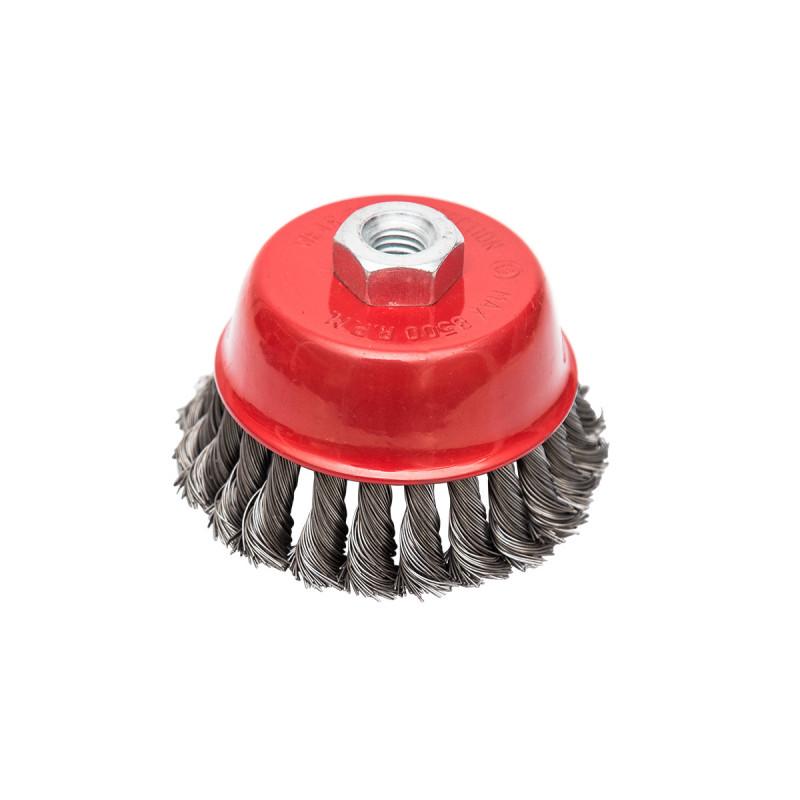 Mašinska čelična četka, upletena lončasta ø65mm za brusilicu