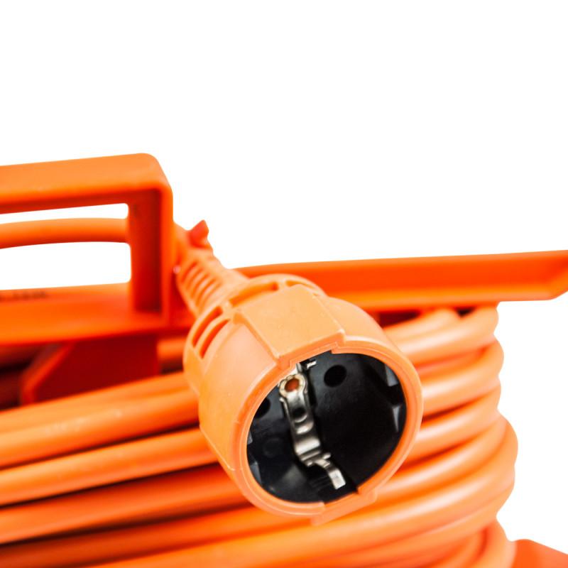 Jednostruka prenosna priključnica, 15m narandžasta