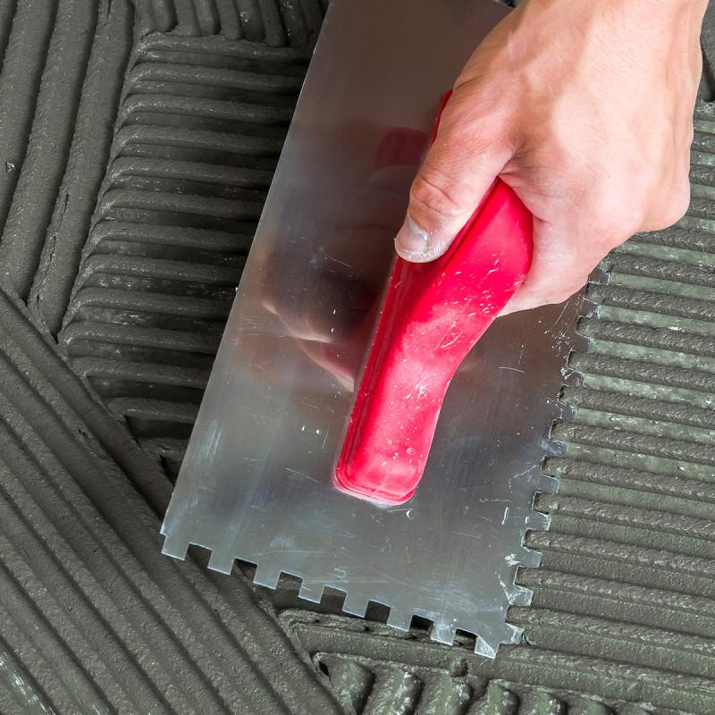 Gleterica Inox, nazubljena PVC ručka 8x8mm