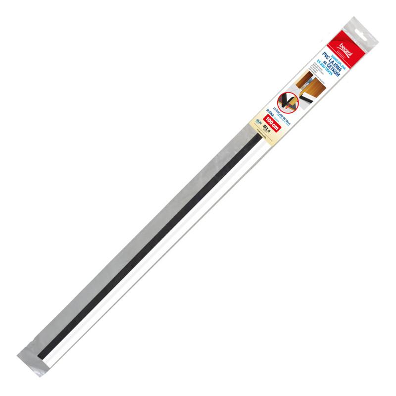 Samoljepljiva PVC lajsna sa četkom za vrata 1m, bijela