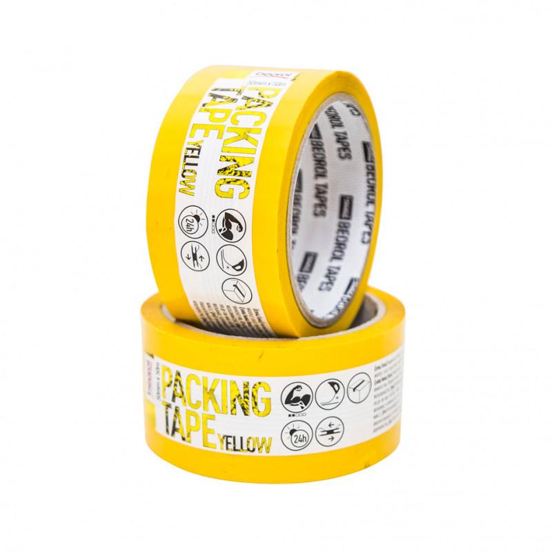 Kolor selotejp, 50mm x 50m, žuti