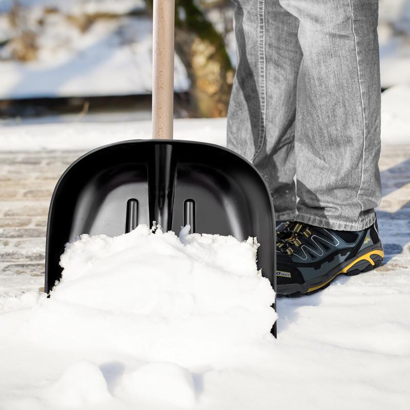 Lopata za snijeg, 40x40cm, crna, ojačana limom