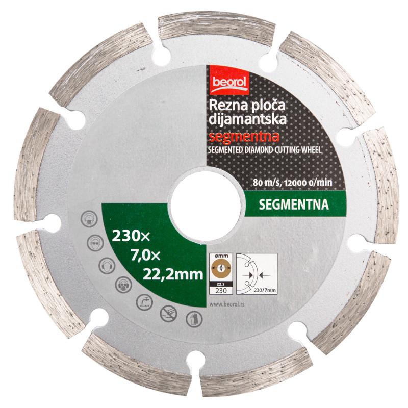 Rezna ploča dijamantska segmentna ø230mm