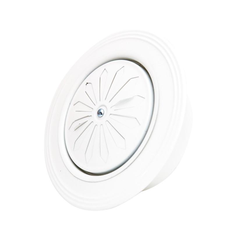 Rozetna ventilaciona bijela ø119mm zaobljena